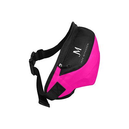 JM COMPANY LOGO WAIST BAG // Neon Pink, Black, & White