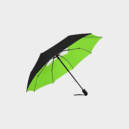 JM DESIGNER ANTI-UV AUTOMATIC UMBRELLA // Black, Neon Green, & White