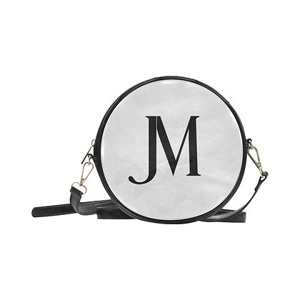 JM LOGO ROUND MESSENGER BAG // Black & White