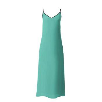 SOPHIA SLIP DRESS // Jade Green, Black, & Gold