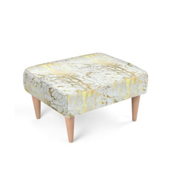 JM COMPANY ABSTRACT PRINT ACCENT FOOTSTOOL