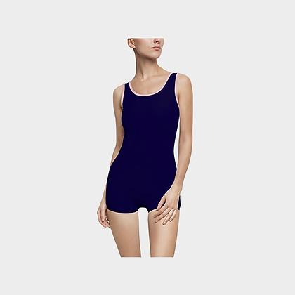 WOMEN'S JM COMPANY VINTAGE-STYLE SWIMSUIT // Dark Blue & Light Pink, w/ Logo