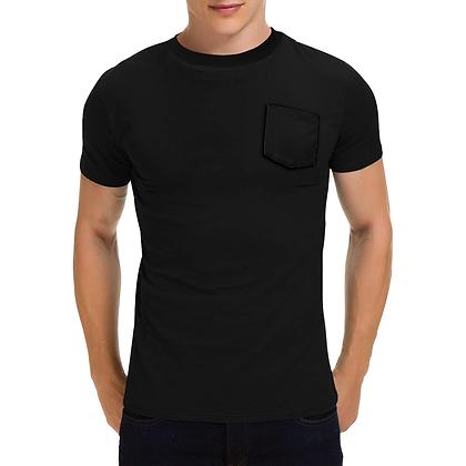 MEN'S SHORT SLEEVE ROUND NECK POCKET T-SHIRT // Black