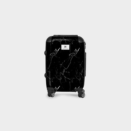 MARBLE SWIVEL SUITCASE // Black & White