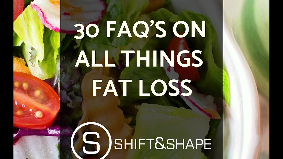 30 FAQ's On All Things Fat Loss