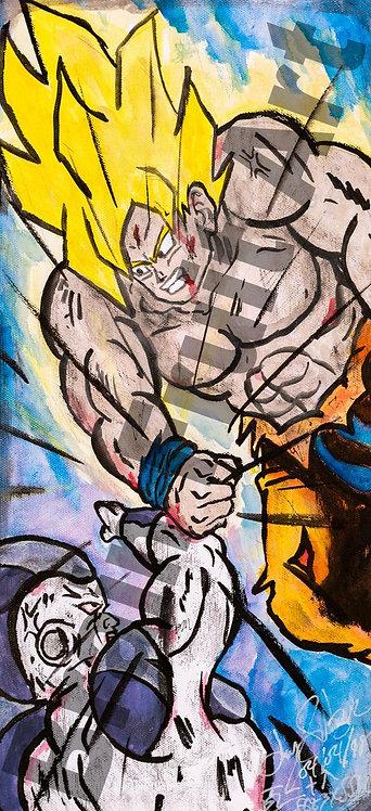 SSJ Goku vs Freiza