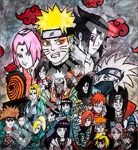 Naruto Character Collage