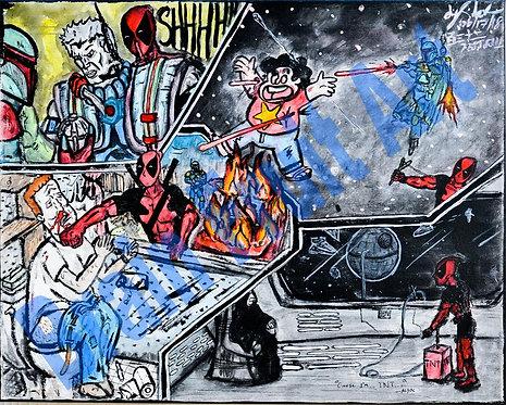 Deadpool and Bobba Fett