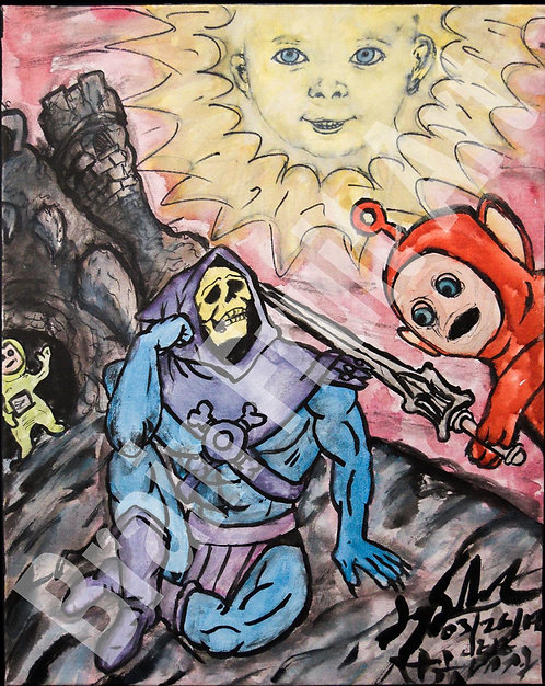 Teletubbies defeat skeletor