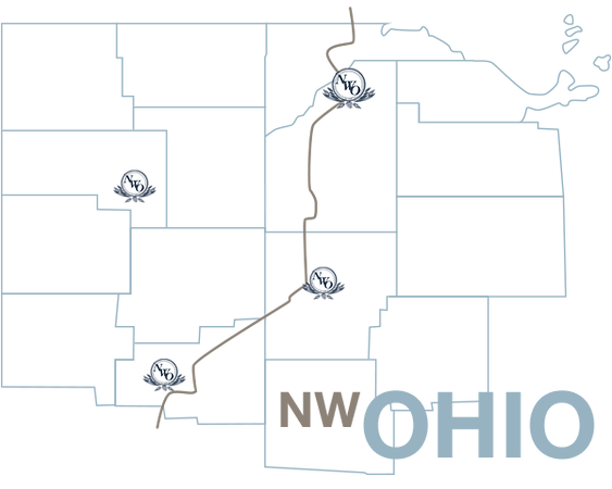 Northwest Ohio Area Map