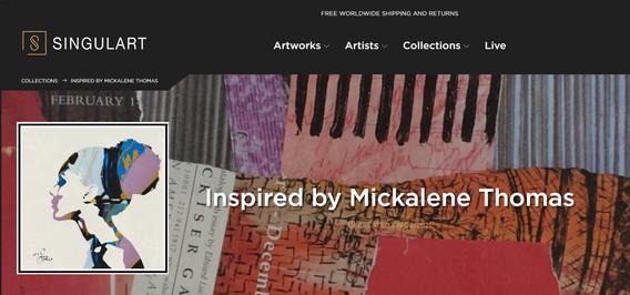 COLECTION INSPIRED BY MICKALENE THOMAS. SINGULART
