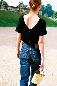 Reversible short sleeve shirt black 2.jp