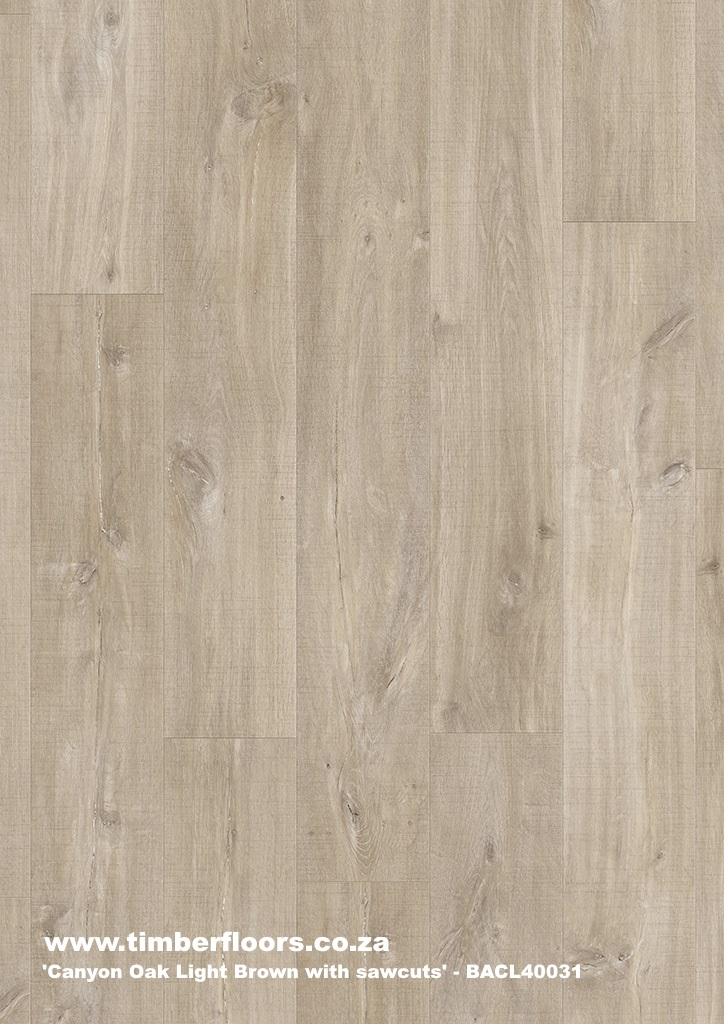 Canyon Oak Light Brown with Sawcuts Top
