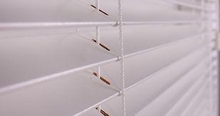 50mm white wooden blinds