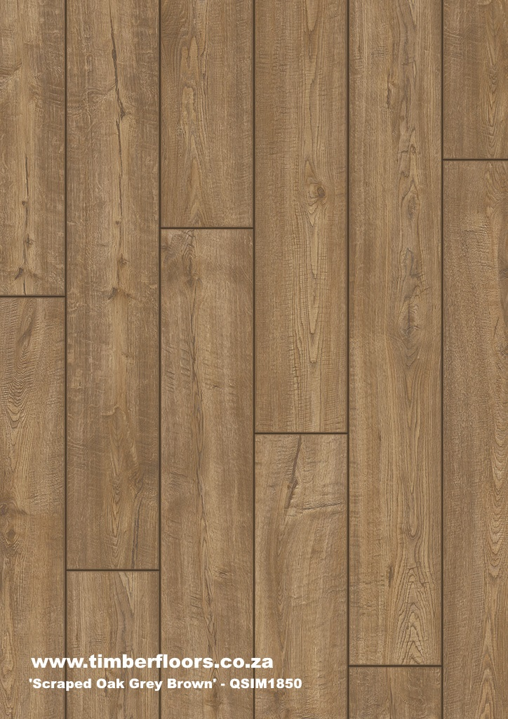Scraped Oak Grey Brown Top