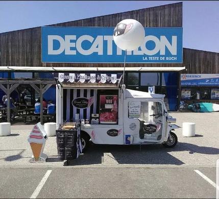Green Tukky decathlon glaces hot dog