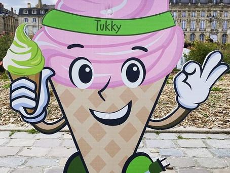 GREEN TUKKY présente sa mascotte Tukky aux enfants de Bordeaux