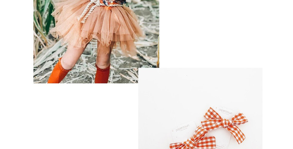 Gingham Clips