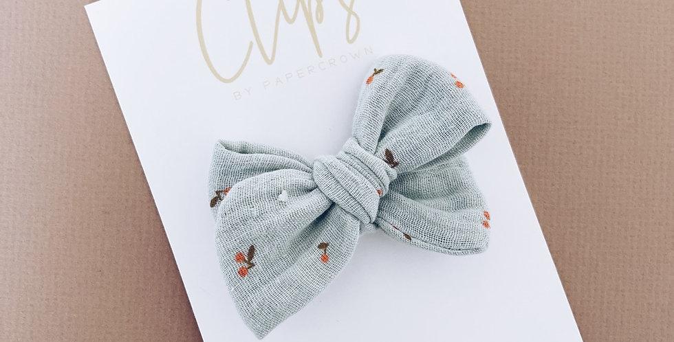 Cherry gauze bow
