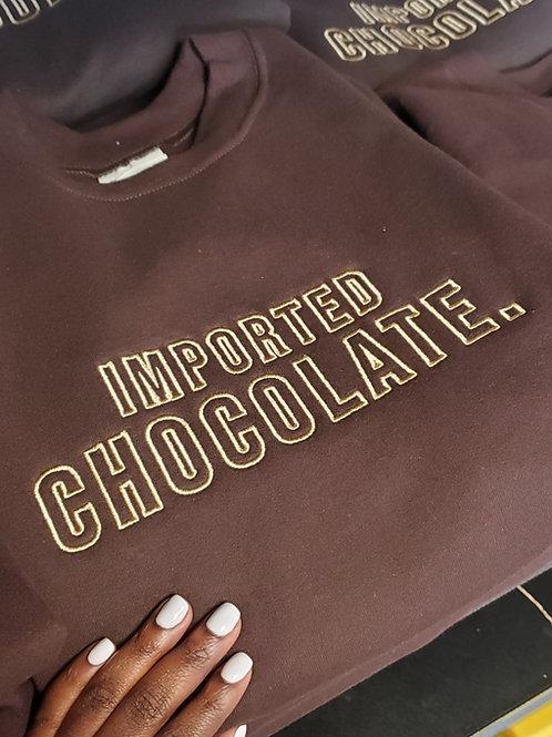 Imported Chocolate Crewneck Sweatshirt