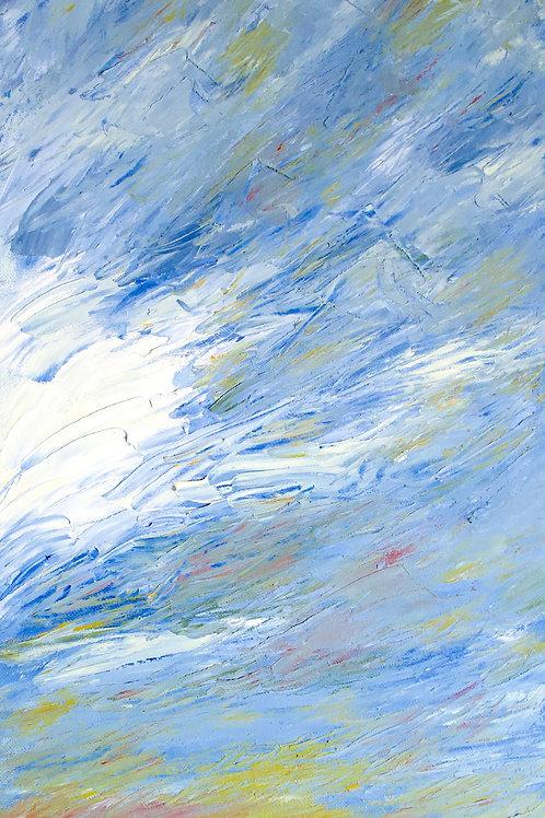 Sky (Oil on Board : 8.6cmx30cm)