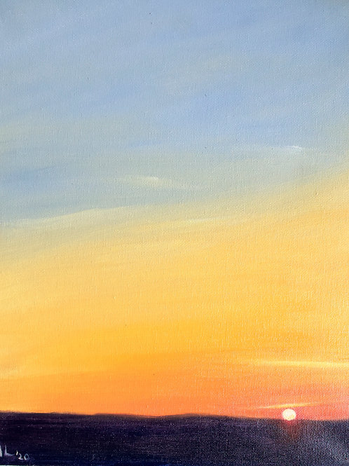 Evening Sky (Oil on Board : 26cmx30cm)