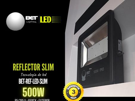Reflector led para exterior SMD 500W modelo BET-REF-LED-SLIM