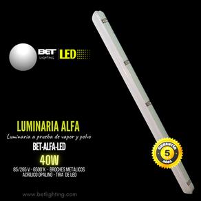 Luminaria led opalina 40W marca Bet lighting, modelo BET-ALFA-LED