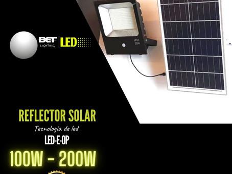 Reflector solar de led Modelo LED-E-OP, potencia 100W y 200W