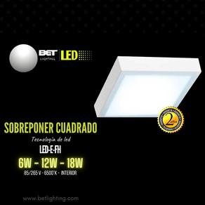 Sobreponer cuadrado LED interior LED-E-FH Ilumina tus espacios interiores sal de lo convecional Bet