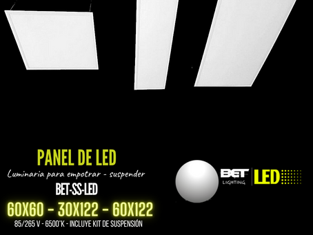 Panel de led marco blanco, luz blanca Bet lighting BET-SS-LED