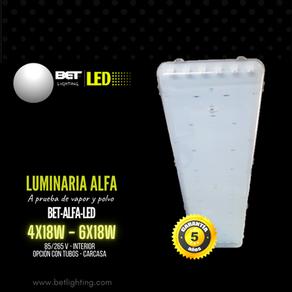Luminaria alfa a prueba de vapor y polvo 4x18W - 6x18W Bet lighting