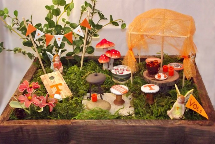 Tennessee Volunteers Vols Fairy Garden