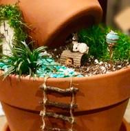 Stacked Pot Fairy Garden