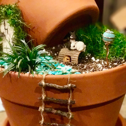 Stacked Pot Fairy Garden