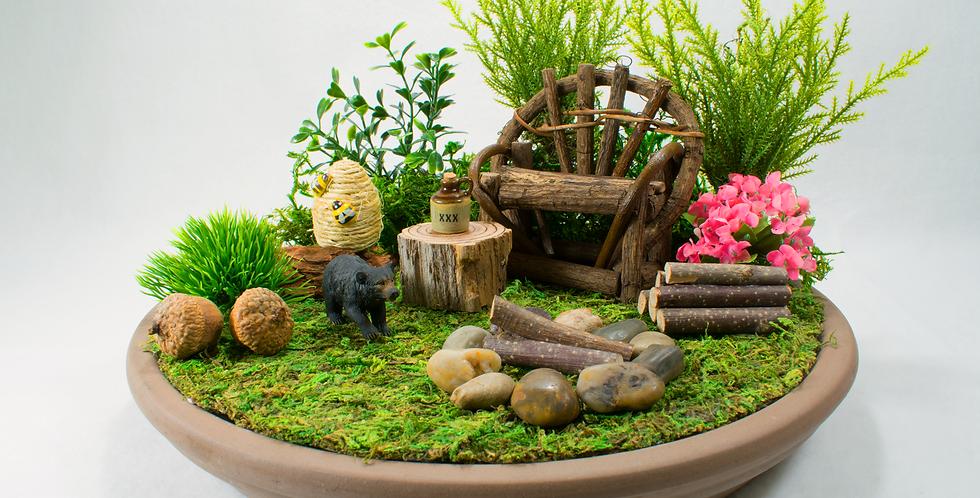 Black Bear Square Fairy Garden Kit