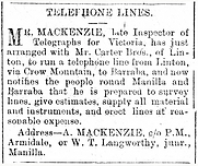 1909 telephone lines notice