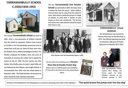 History of Yarramanbully School