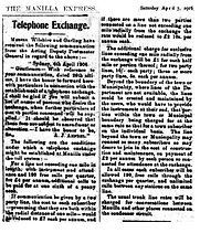 Telephone Rates 1906