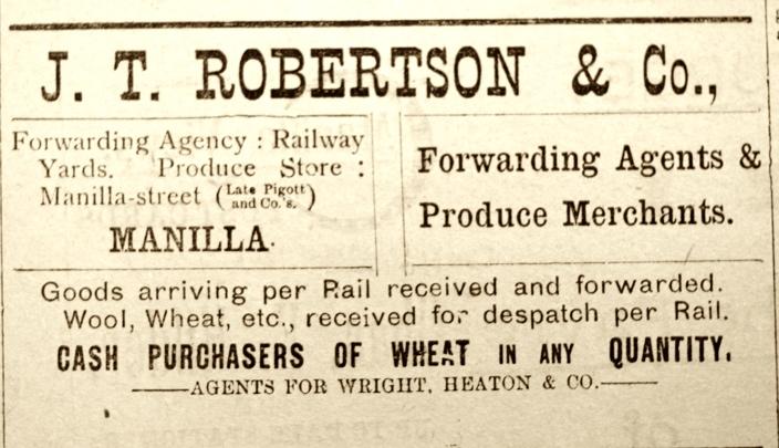 JTRobertson Ad Wheat 1900s