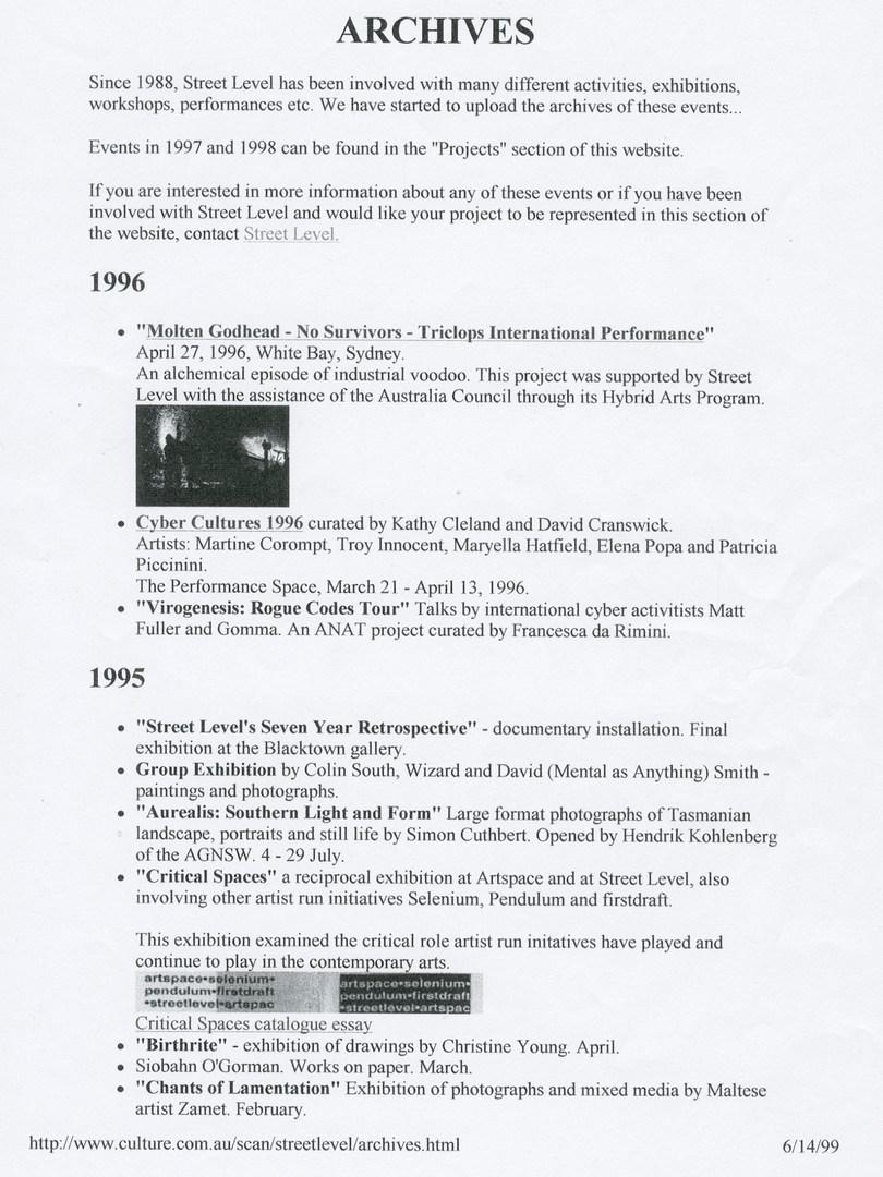 Street Level Archives (1) - culture.gov.au
