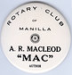 AR 'Mac' Macleod's Rotary Badge