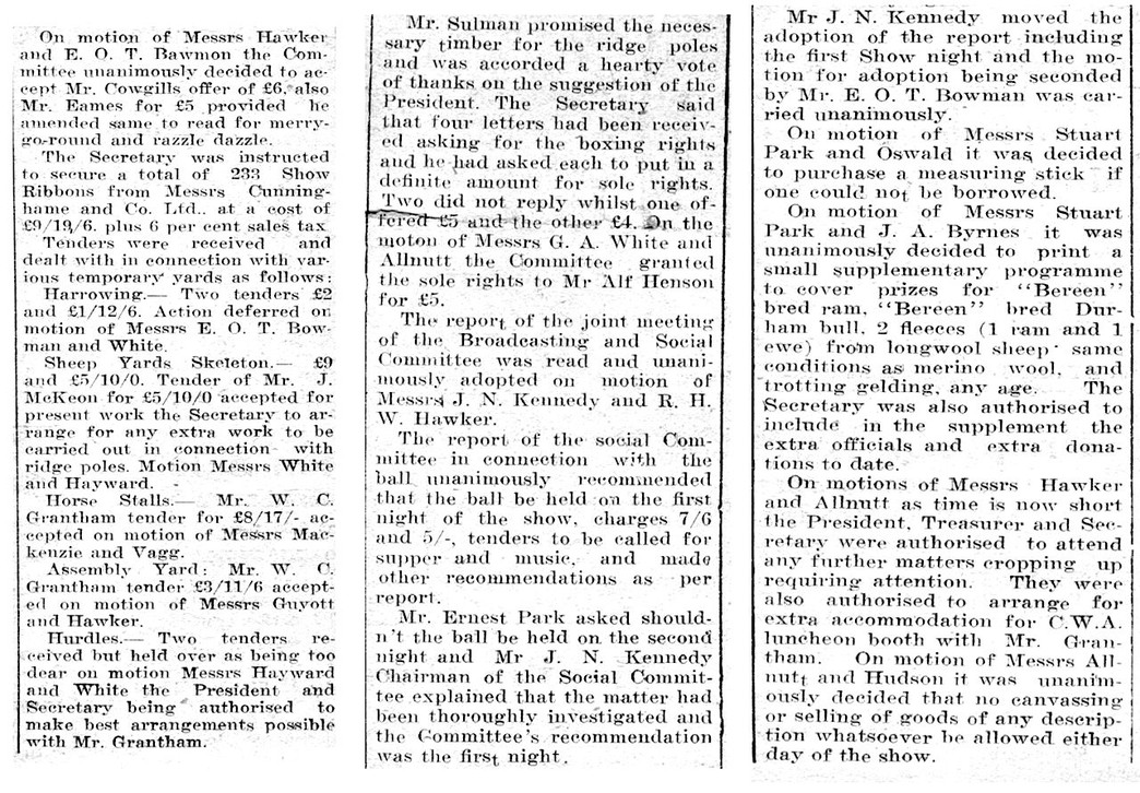 1st Manilla Show Committee meeting 1932 [2]