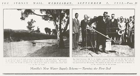 Manilla Water Scheme_Weir Site 7-9-1932
