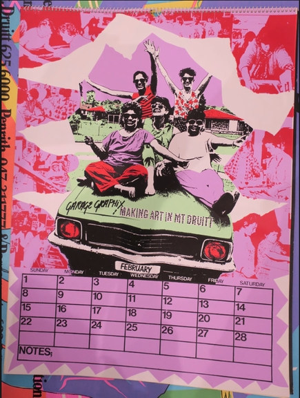 Garage Graphix Calendar with Staff Image_ Cross Art