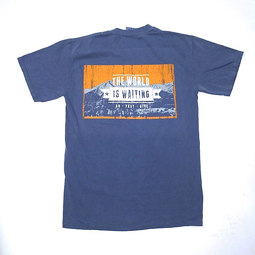 The World is Waiting - Pocket Tee