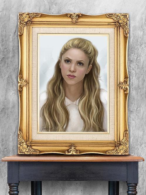 Pintura em tela Retrato realista