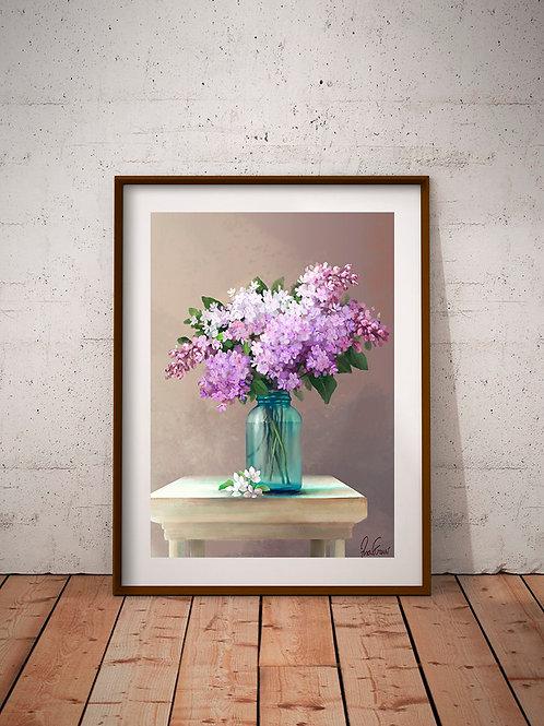 Pintura em tela realista Quadro decorativo com moldura