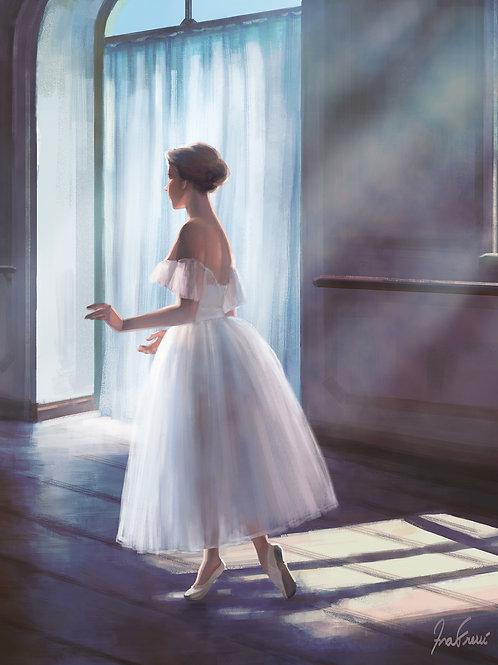 Pintura em tela realista Quadro com moldura