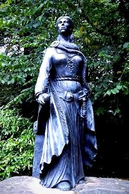 "Statue of Grainne Ni Maille, a pirate in real life, and a heroic defender of Ireland in the folk song, ""Óró, Sé Do Bheatha 'Bhaile."""